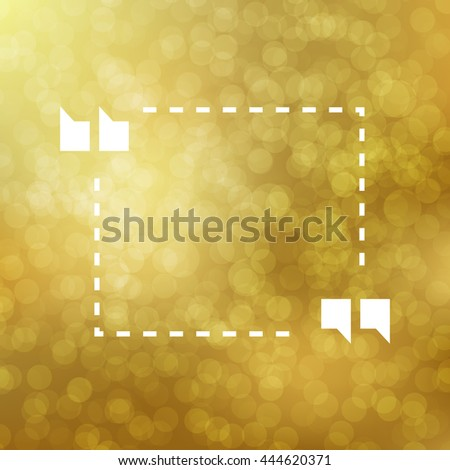 Quote Illustration Poster on gold bokeh lights background. Merry Christmas and Happy New Year party invitation card with abstract snowflakes. Lettering Template. Poster, card, flyer, banners design