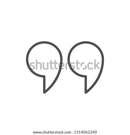 Quote line icon isolated on white