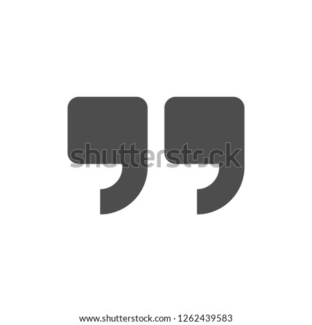 Quote modern icon isolated on white