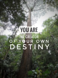 Quotes- You are the creator of your own destiny