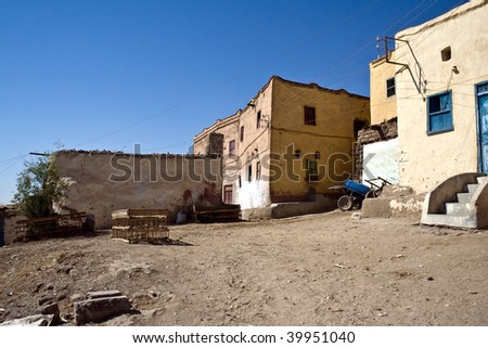 Qurna is a village on the west bank at Luxor, Egypt