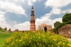Qutub Minar , Delhi, India It's one of the wonder of india and the tallest brick minaret with 72.5 meters. The first Muslim ruler of Delhi in 1193,. It is now listed as a UNESCO World Heritage Site.