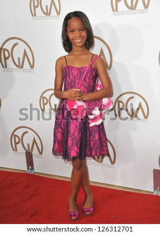 Quvenzhane Wallis at the 2013 Producers Guild Awards at the Beverly Hilton Hotel. January 26, 2013  Los Angeles, CA Picture: Paul Smith