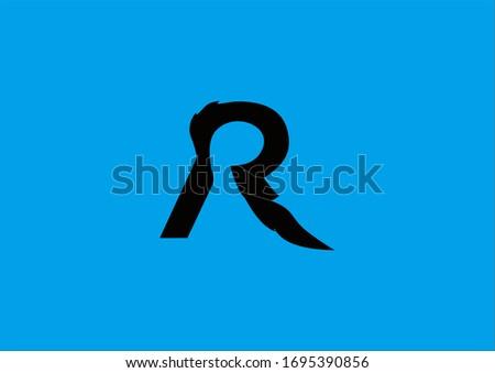 R Alphabet Monochrome Design Illustration Stock fotó ©