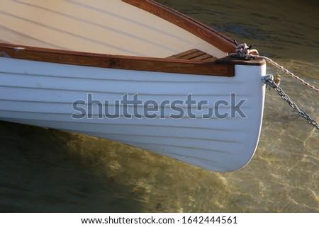 régi fehér hajó víz tájkép Stock fotó ©