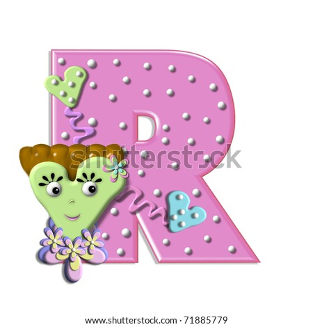 R Alphabet In Heart Alphabet In Heart R, in the alphabet set