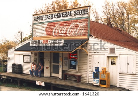 rabbit hash general store in kentucky (editorial use only)