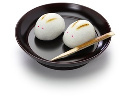 rabbit manju, japanese confection for moon viewing event