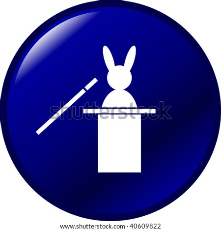 rabbit out of a hat magic trick button