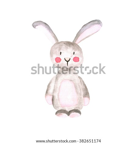 Rabbit Watercolor Illustration