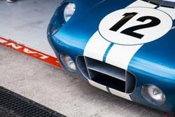 Race car racing on a track