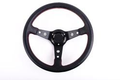 race car Steering wheel on white