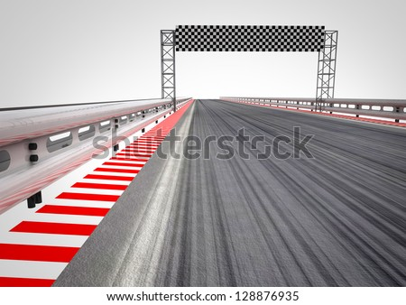 race circuit finish line perspective illustration