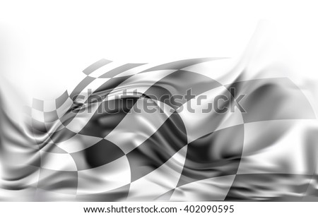 race flag, racing  background illustration grey and black