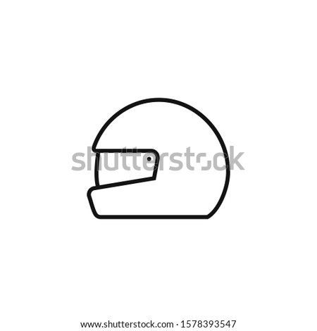 Race helmet icon, illustration. Flat design style. race helmet icon illustration isolated on white background, race helmet icon