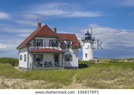 Race Point Light is a historic lighthouse on Cape Cod, Massachusetts. It was first established in 1816, the third light on Cape Cod, a rubblestone tower with one of the first rotating beacons.