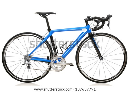 race road bike isolated on white background