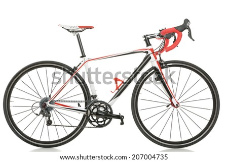 Racing Road Background Race Road Bike Isolated on