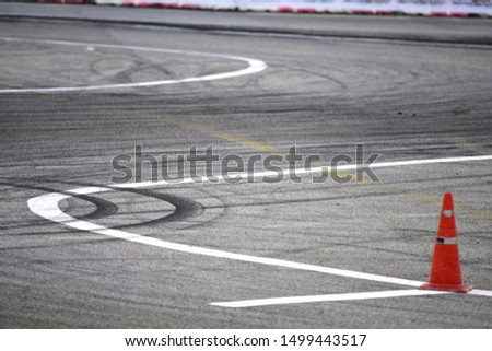 Race tire track detail background. Track Background