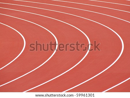 race track curve - stock photo