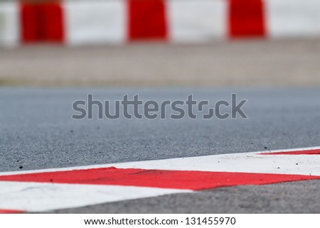 Race track detail, shallow depth of field