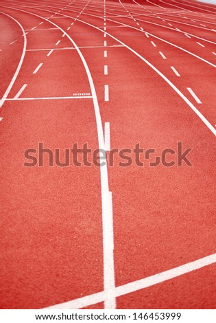 racetrack in red