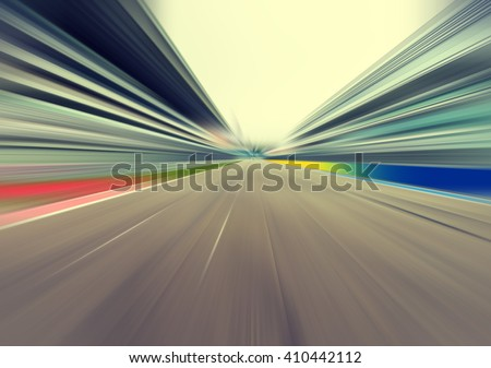 Racetrack motion blur effect
