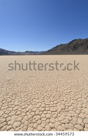 Racetrack playa in death valley