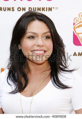 "Rachael Ray pictured at Dunkin' Donuts' first-ever ""Running of the Cups"", Herald Square, New York, New York, July 10, 2007."