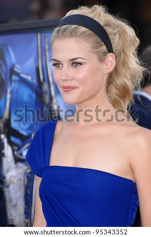 "Rachael Taylor at the Los Angeles premiere of her new movie ""Transformers"". June 28, 2007  Los Angeles, CA Picture: Paul Smith / Featureflash"