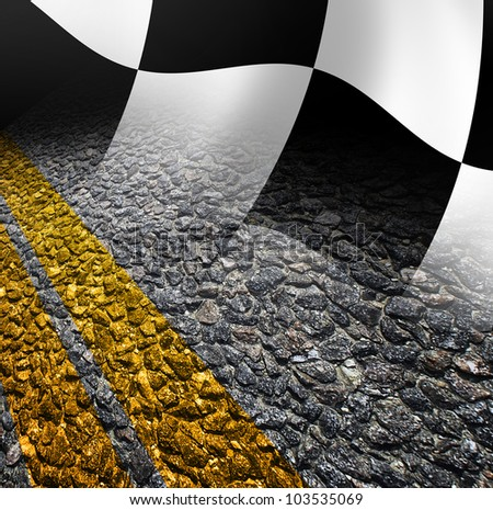 Racing Road Background Racing Background Flag And