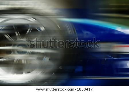 racing car in motion