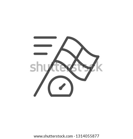 Racing line icon isolated on white
