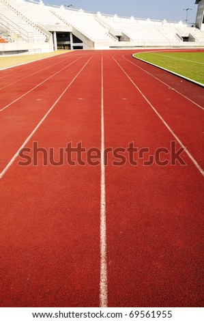 Racing run way track perspective line view