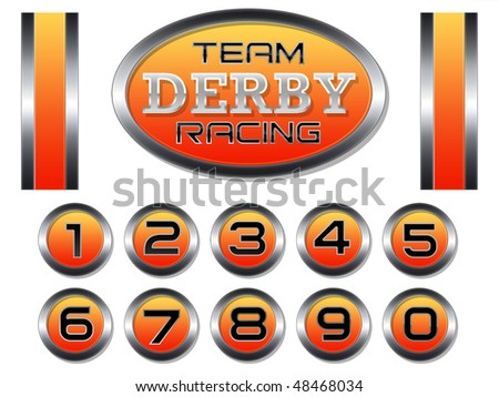 Racing Set for Scale Model Derby Race Cars