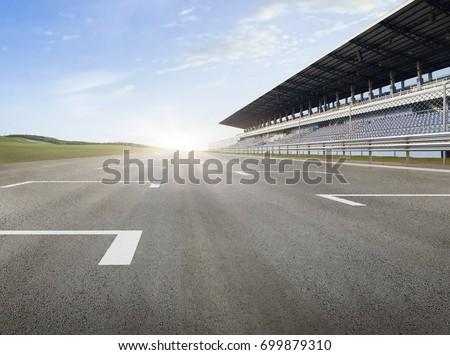 racing track horizontal #699879310