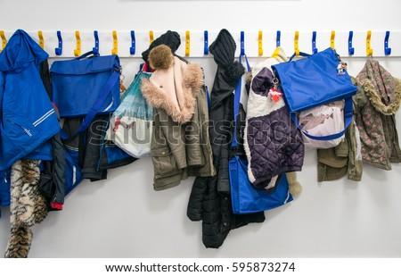 Rack of coats on pegs Foto d'archivio ©