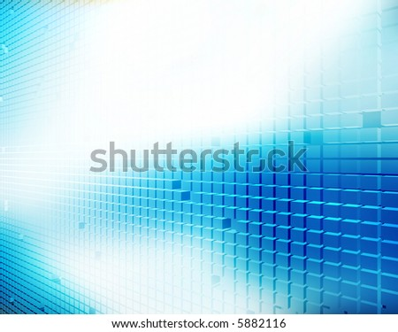 Rack Space Illustration - stock photo