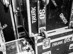 Rack touring pop rock flight cases texture background