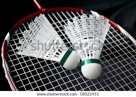 Racket for badminton and a flounce