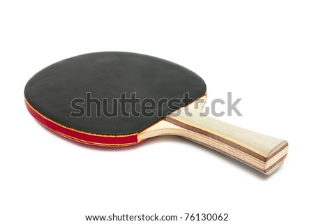 Racket for table tennis isolated on white