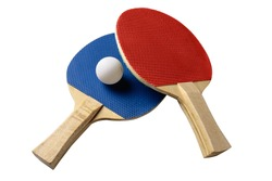 racket for table tennis isolated on white background