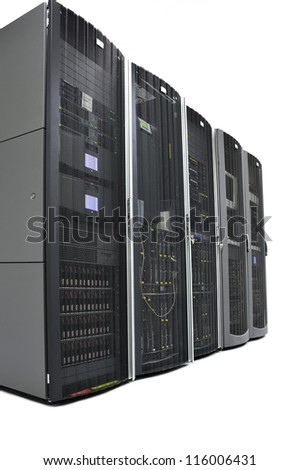 Racks in a data center