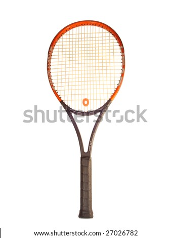 racquet big tennis isolated on white background