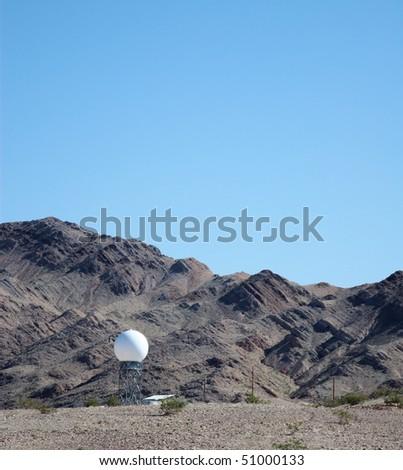 Radar dome in the desert