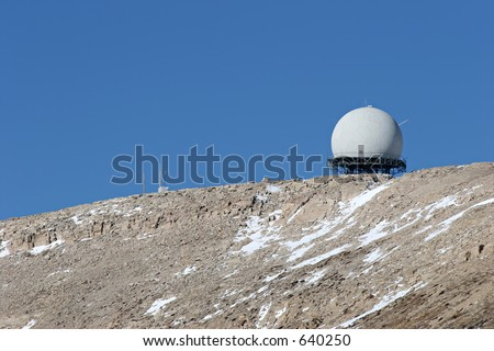 radar facility of the federal aviation administration, perched atop the bighorn mountains, northern wyoming