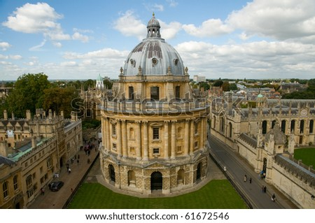 Radcliffe Camera and All Souls College, Oxford University. Oxford, UK - stock photo
