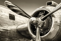 radial engine of an historical aircraft