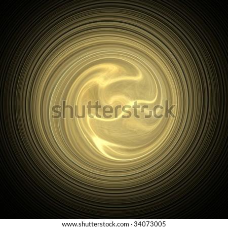 Radial golden waves background