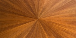 radial pattern created using straw marquetry